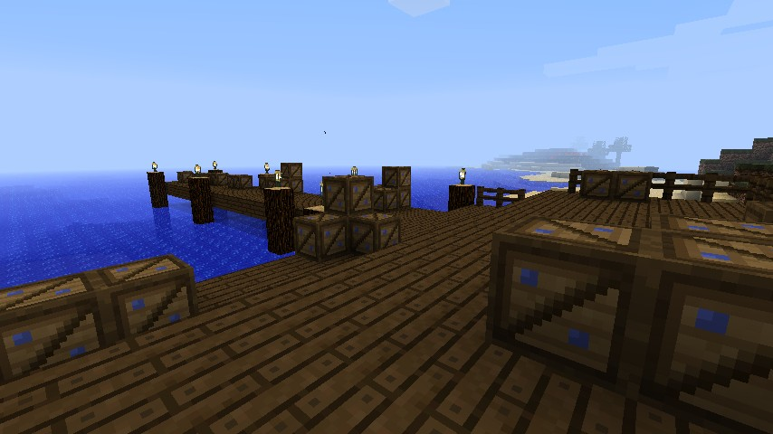 Docks with lapis lazuli crates ready to ship.
