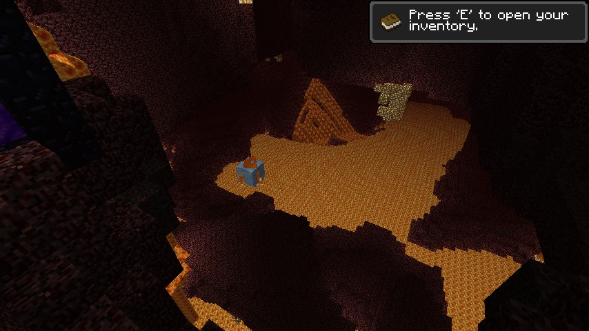 Ghast in lava