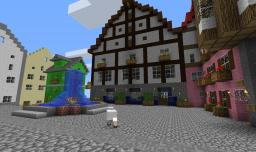 Favorite city inspired world - Tudor style Wool Shop Minecraft Map & Project
