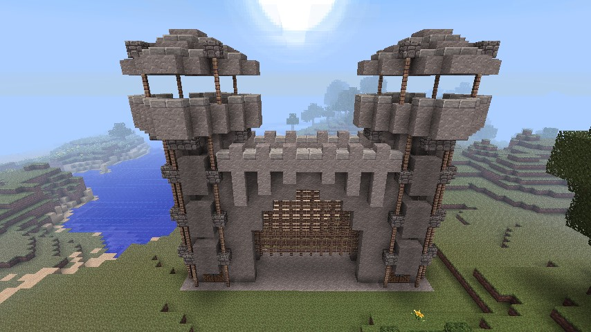How To Build Castle Gates In Minecraft