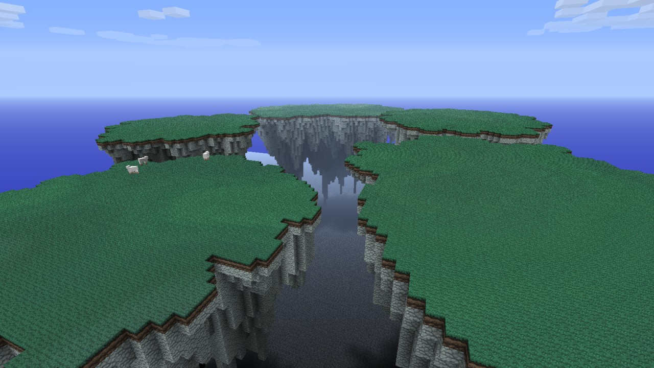 5 Floating Islands Minecraft Project
