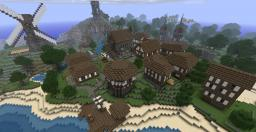 Medieval Seaside Village/Town Minecraft Map & Project