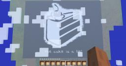 The Cake is a Lie Pixel Art Minecraft Map & Project