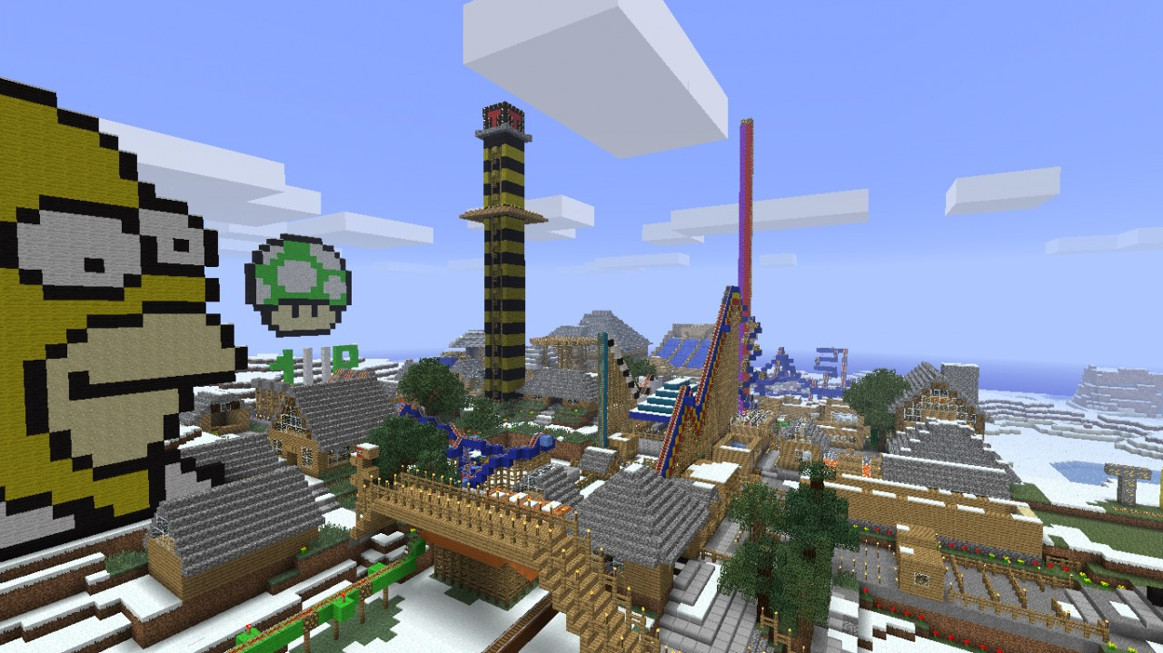 how to build an amusement park in minecraft