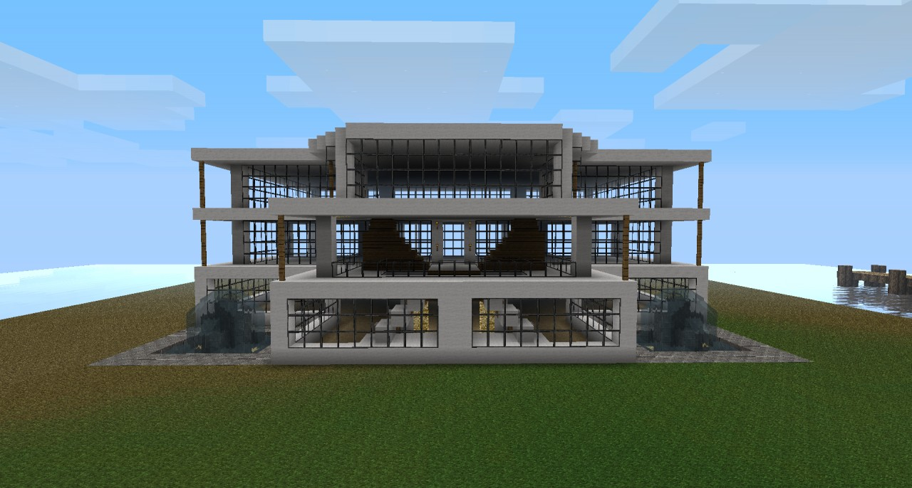 Modern house 1 final minecraft project for Modern house projects