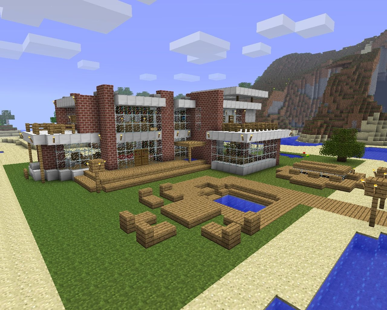 Modern beach house design (download) Minecraft Project