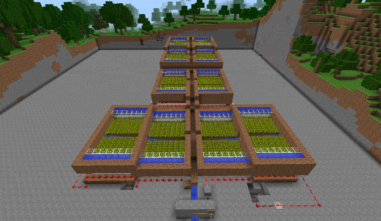 Piston Automated Wheat Farm! Minecraft Project