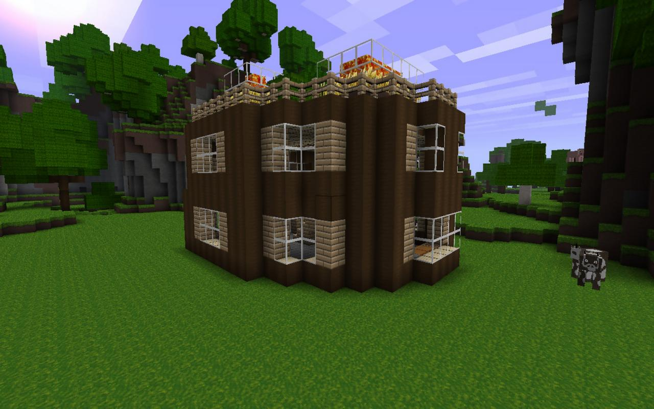 how to build a circle house in minecraft