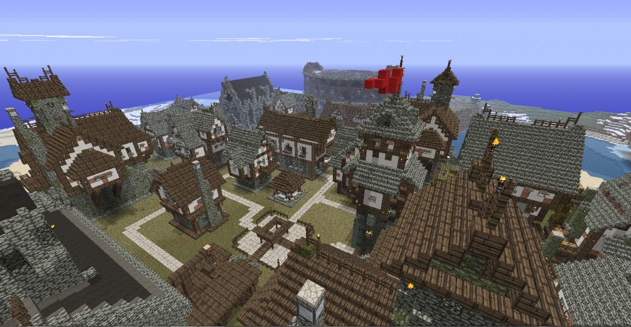 Minecraft medieval city map myideasbedroom com