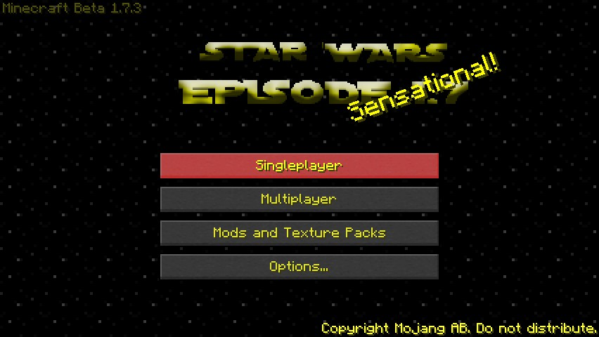 Star Wars Episode 1.7.3: The Texture Pack