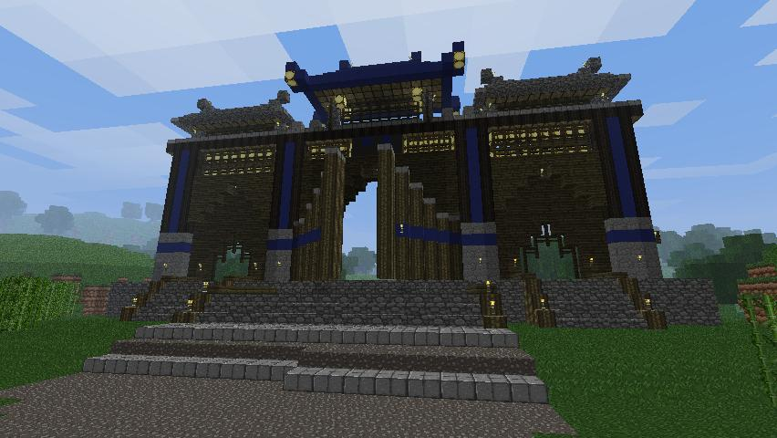 Hd image galleries on mncrftpcs - Minecraft japanese gate ...