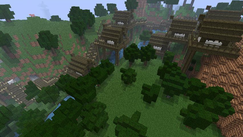 Minecraft Small Japanese Village Minecraft Project