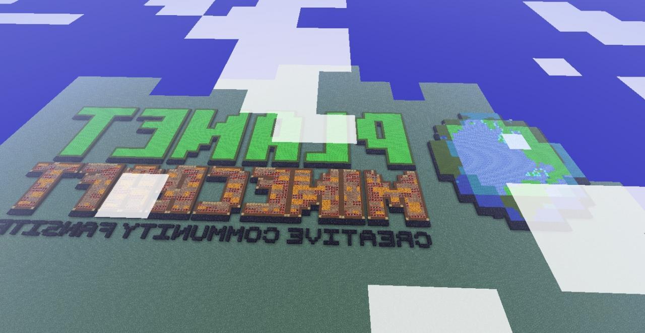 Planet minecraft logo pixel art Minecraft Project