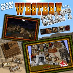 WesternCraft 1.7.3 64x64 (32x32 available on official website) Minecraft Texture Pack
