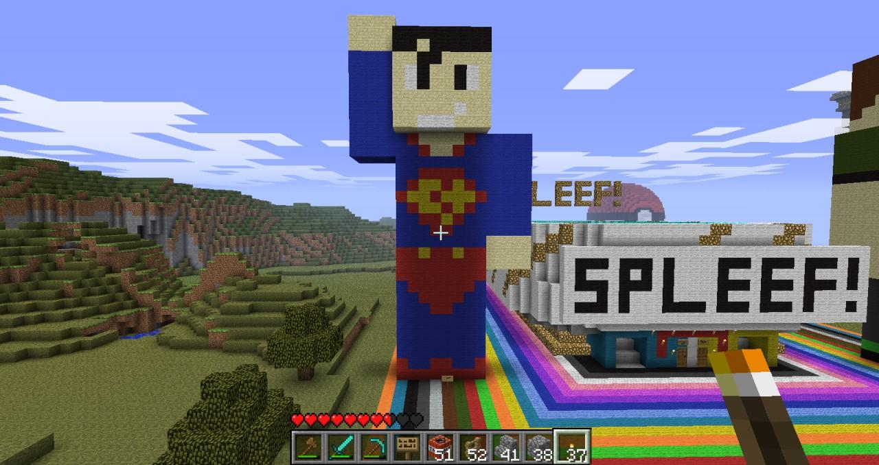 Superman Pixel Art Minecraft Project