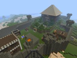 Manor House with surrounding village and wall Minecraft Map & Project