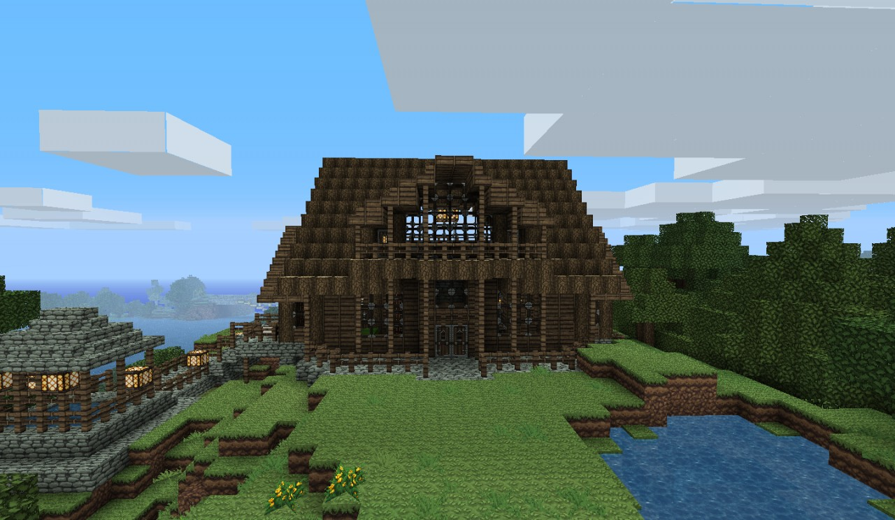 . Log cabin Minecraft Project