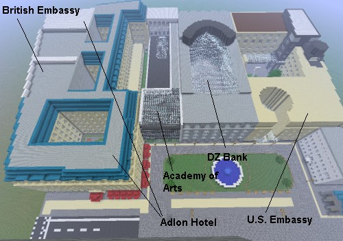 pariser platz paris square berlin world save minecraft. Black Bedroom Furniture Sets. Home Design Ideas