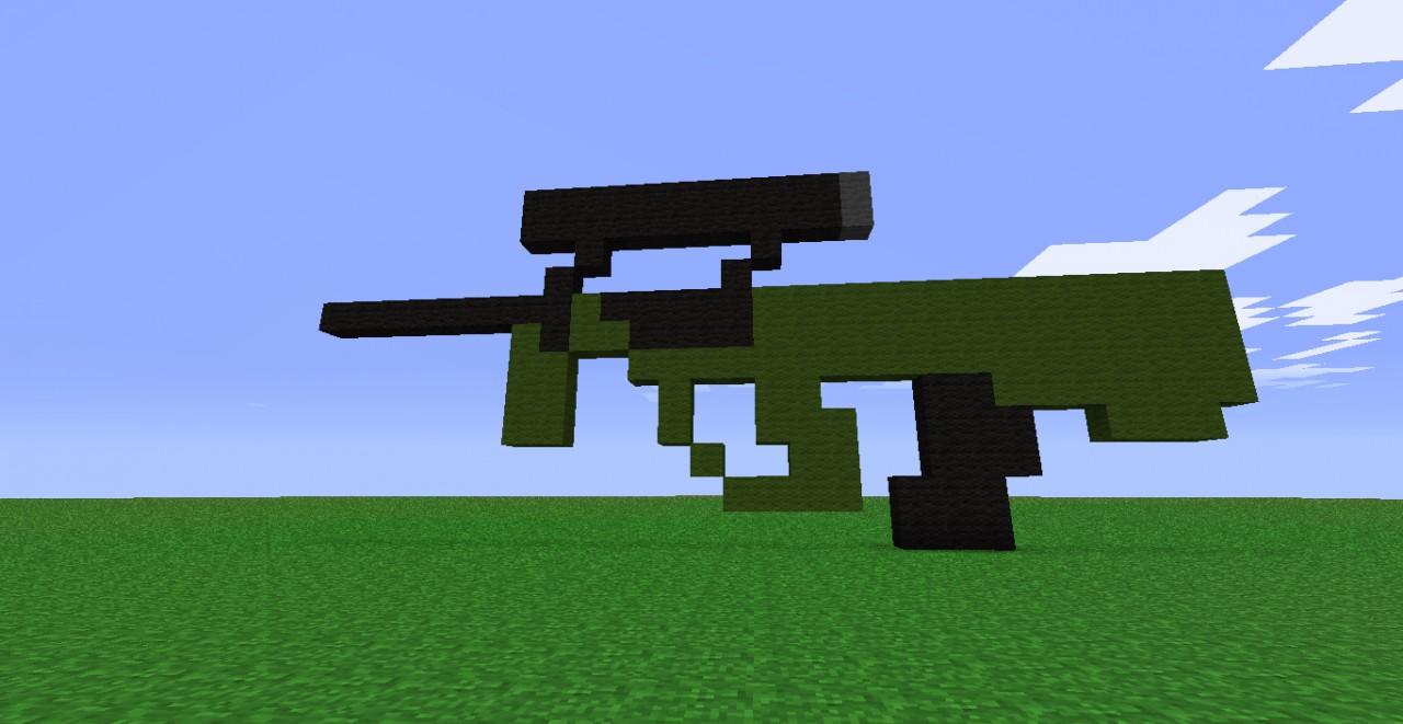 Firearm Pixel Art Minecraft Project