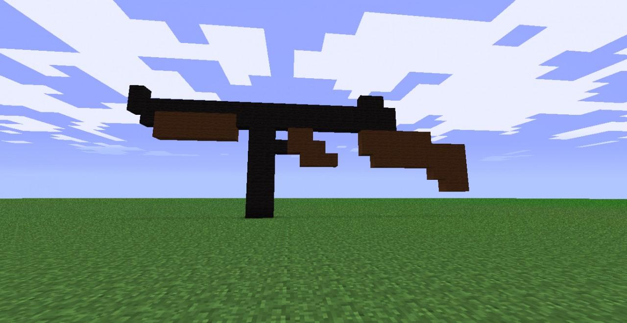 in minecraft how to make a gun