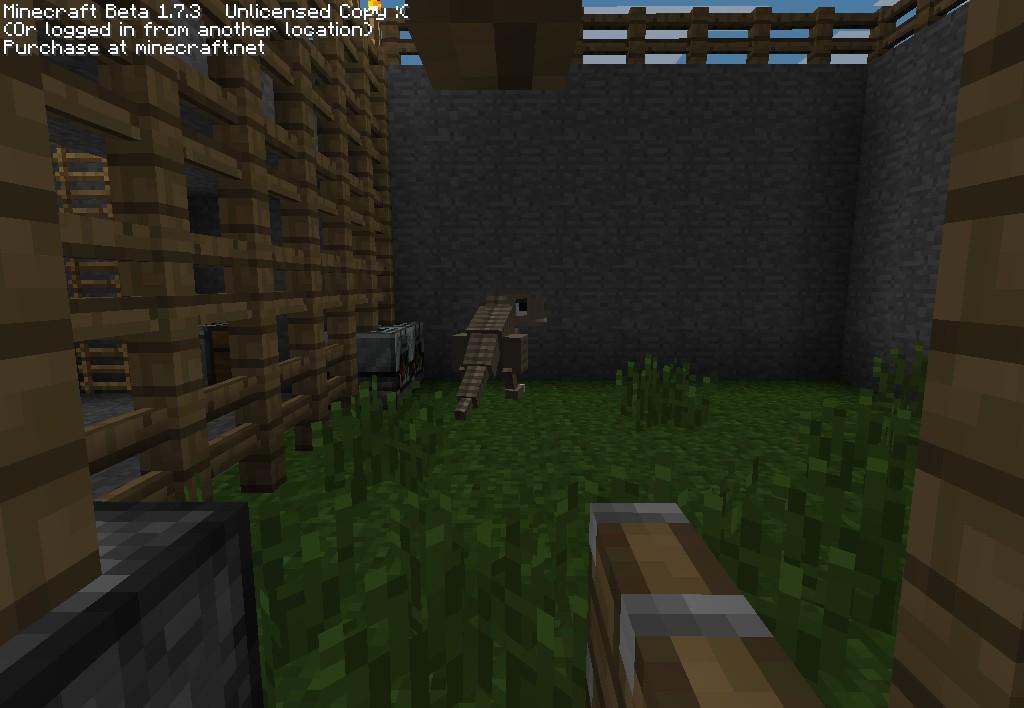 Minecraft zoo crafting dinosaurs