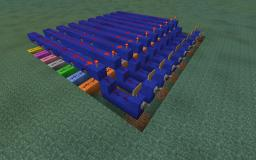 Decoder for 7Segment Display (Color Coded Learning Tool) Minecraft Map & Project