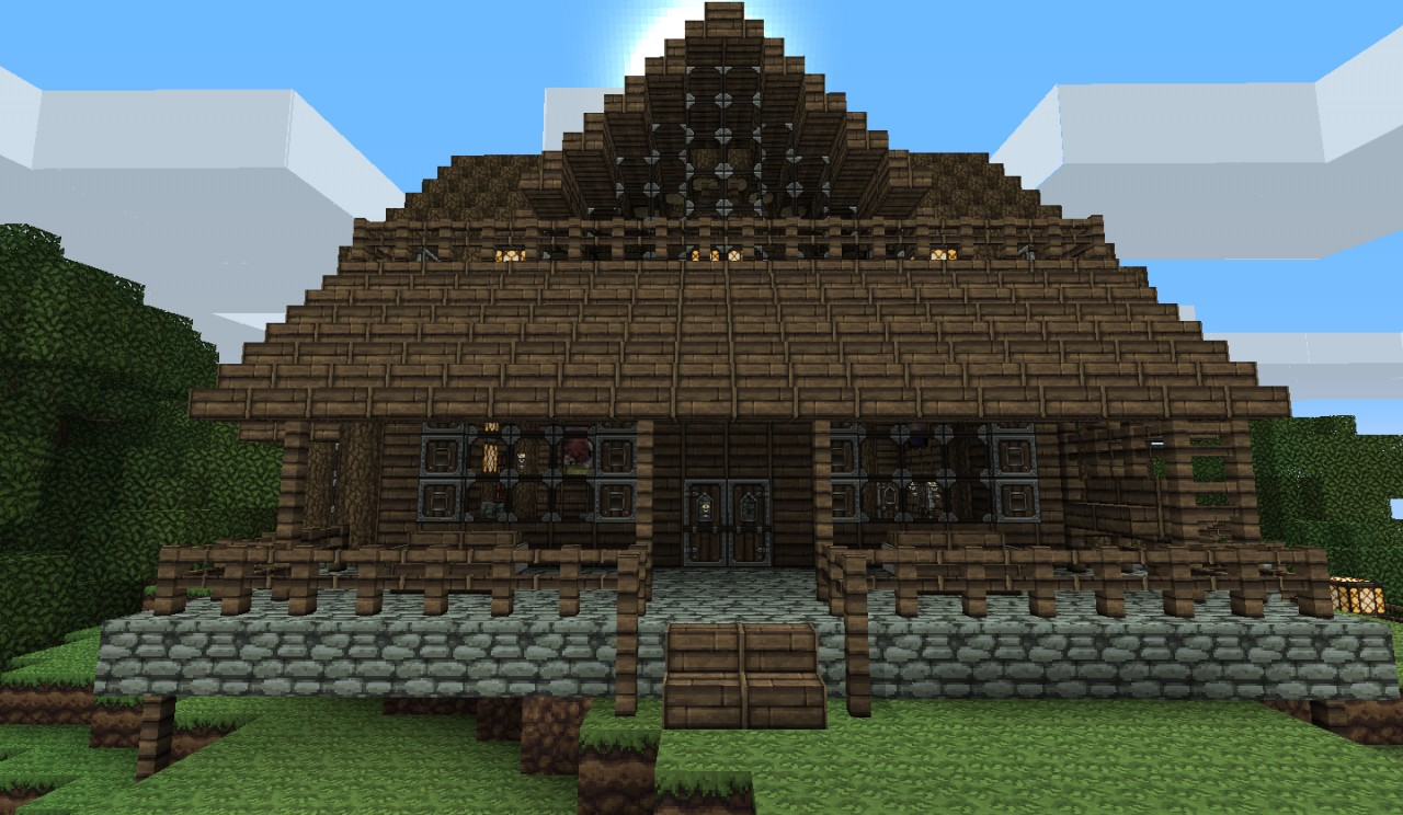 Log cabin minecraft project for First time home building guide