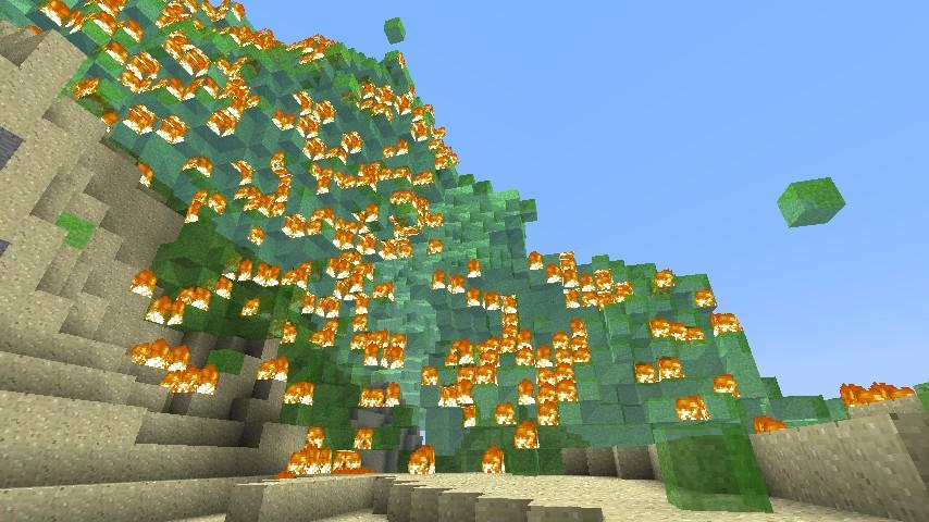 Fungi mountain on fire