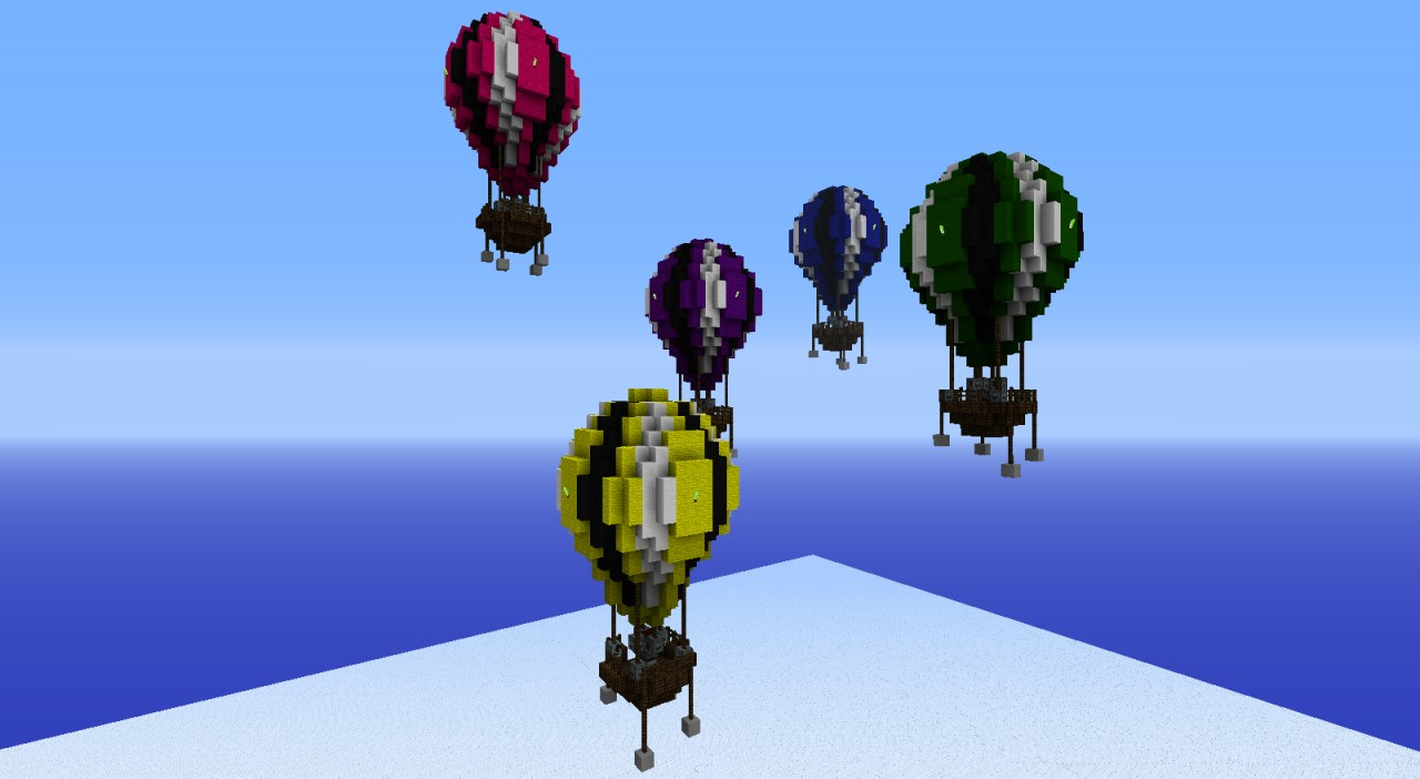 Hot air balloons adacia collection minecraft project for How to make a small air balloon