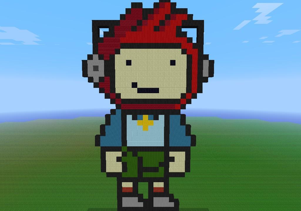 Maxwell Pixel Art* (Scribblenauts) Minecraft Project
