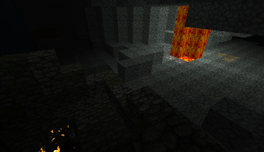 Open Spawner, Diamonds, Gold and LAVA