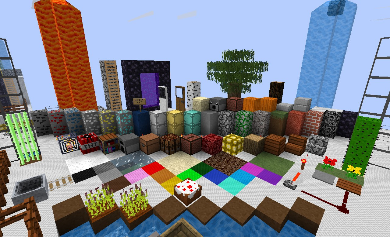 Obbycraft w/ custom water and lava Minecraft Texture Pack