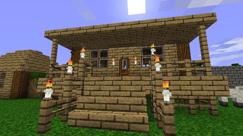 Minecraft Small House Ideas : Small Minecraft House Ideas Small house with porch