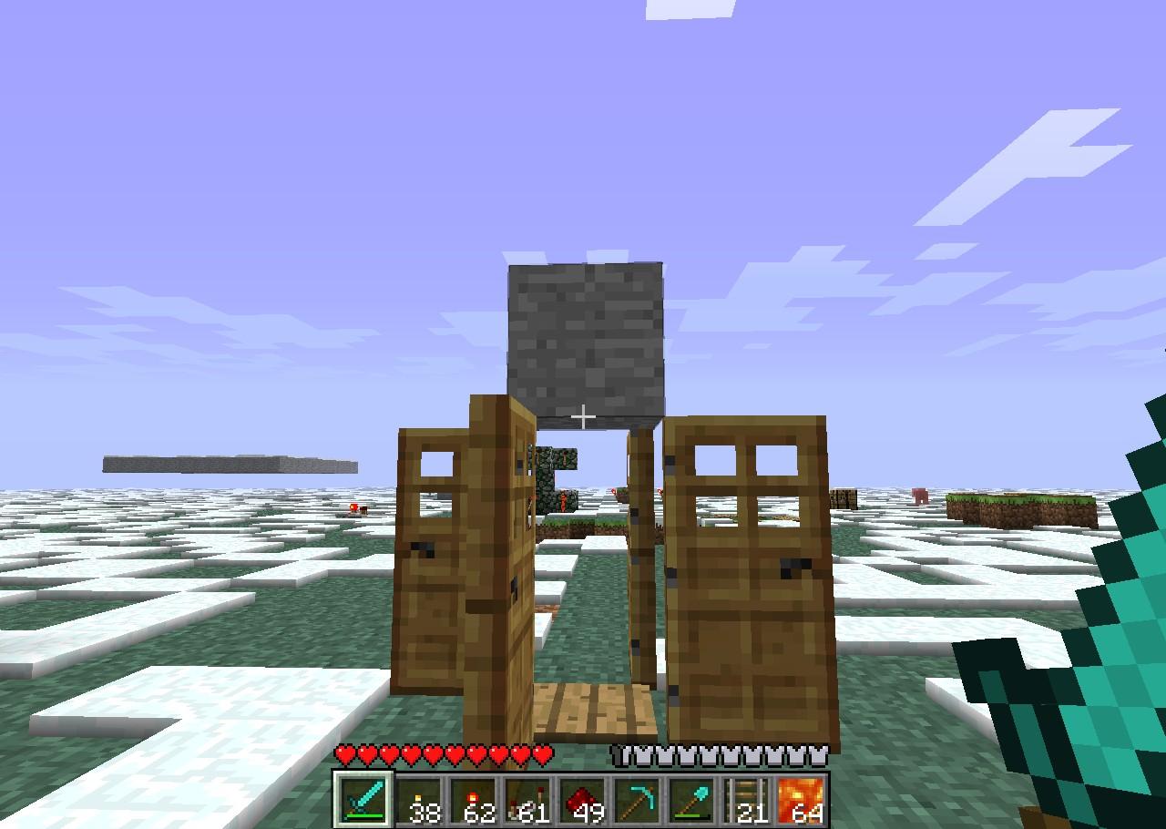 Door trap minecraft project for 10 ways to make a secret door in minecraft