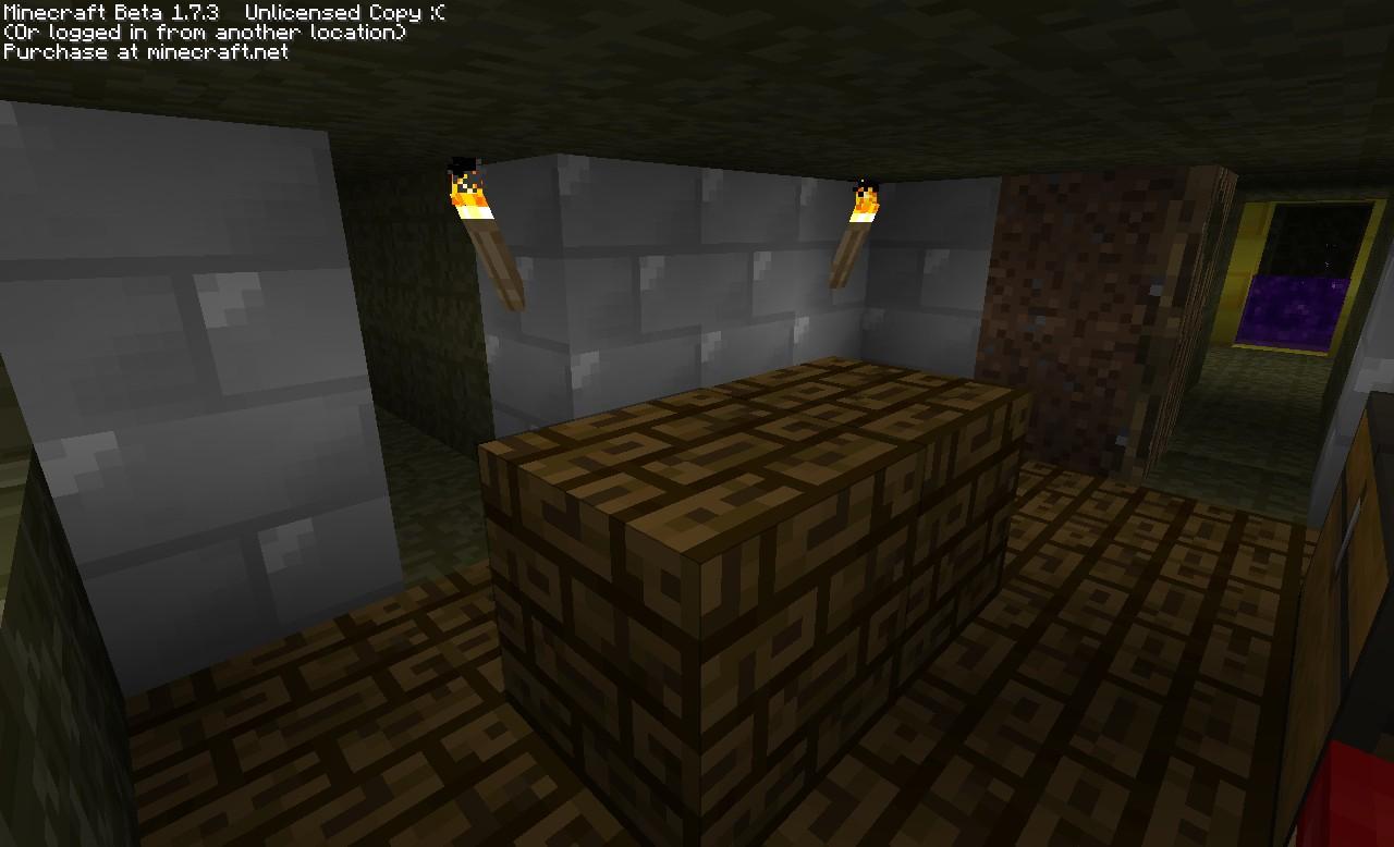 iron, stone, planks