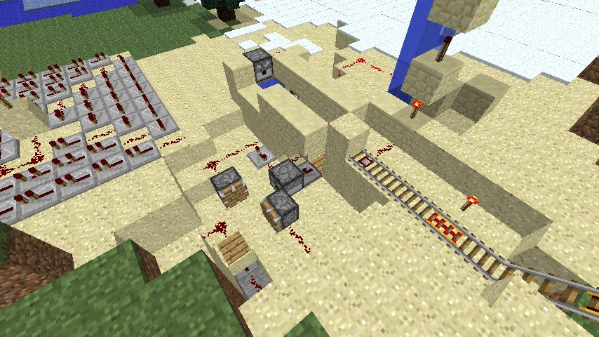 Some Redstone, minecart and pistons