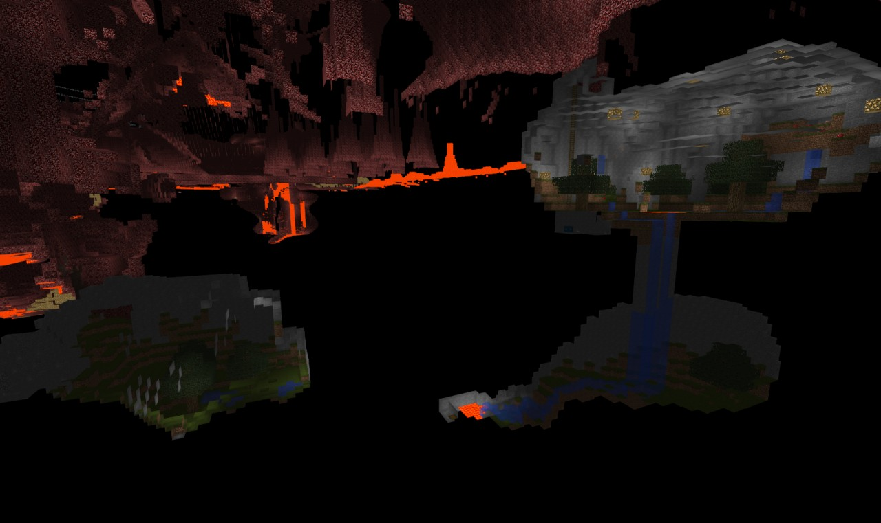Some starter resource caves added in.
