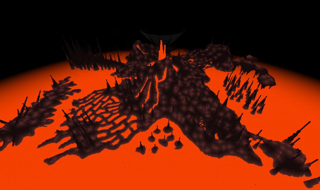 Custom Terrain: Nether Nightmare Minecraft Project