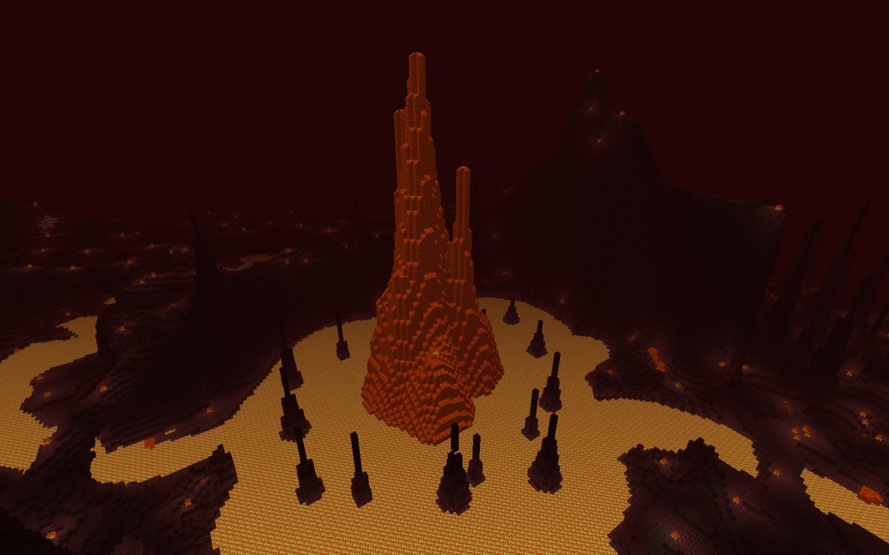 The center lava spire.