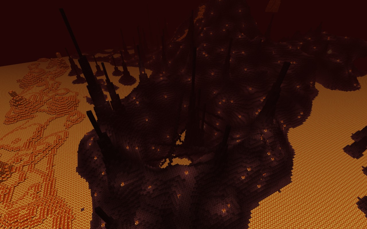 Custom terrain nether nightmare minecraft project the pit close to the starting area gumiabroncs Choice Image