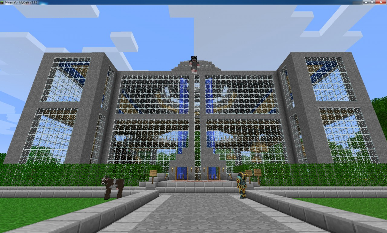 This is a spawn building built by someone else but modified by  my team. Spawn credit goes mostly to the builder.