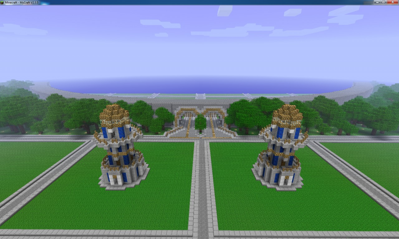 500 plotsfreebuildtown server templatecustomize it yourself this is the the entrance to the main town inside the walls gumiabroncs Gallery