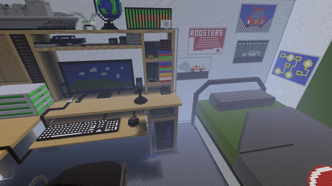 100:1 DragonFury's Bedroom Minecraft Map