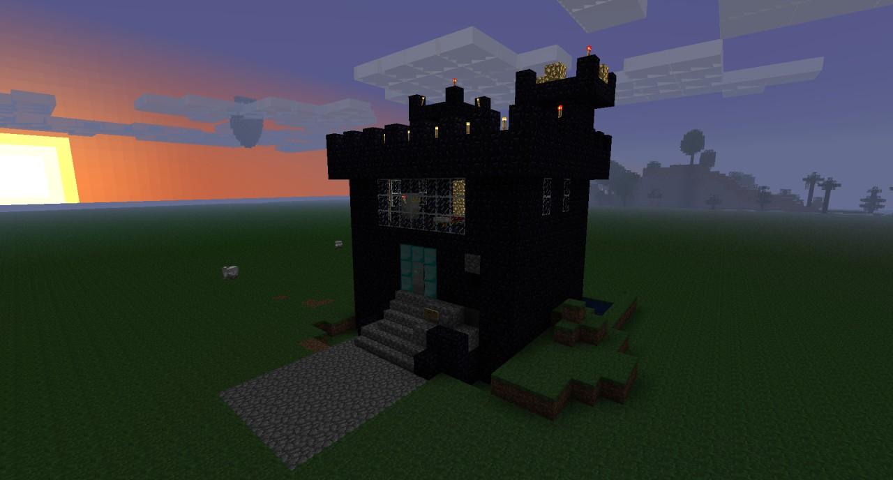 Obsidian Minecraft House The obsidian castleMinecraft Obsidian House