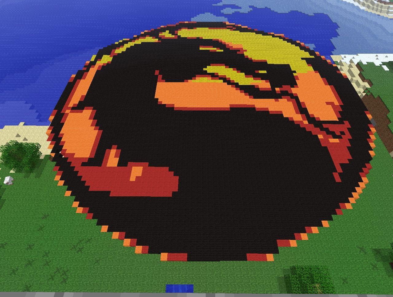 Mortal Kombat Logo Minecraft Map