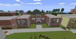 Brick School House Minecraft