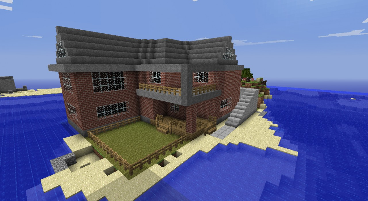 Modern House Made Out Of Brick