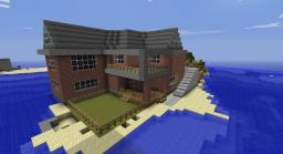 Modern House made out of brick Minecraft Map & Project