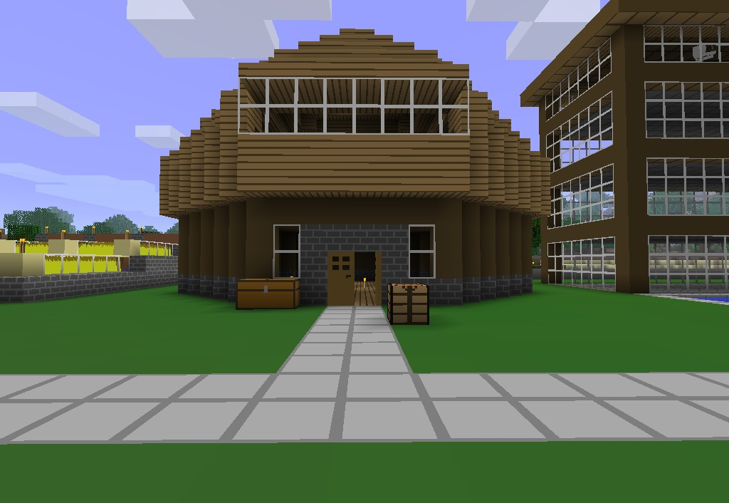 Simple nice house minecraft project for Minimalist house minecraft