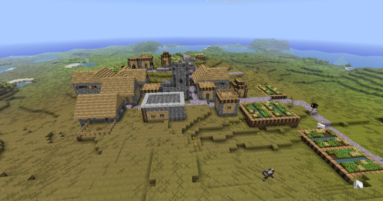 how to build an npc village minecraft